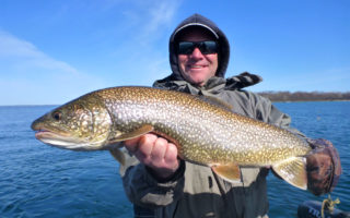 Beautiful 9 lbs Lake Trout was caught on Easter weekend.
