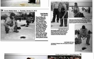 Merland Park Ice Fishing Derby Makes Cover of County Weekly News