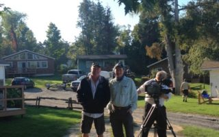 Ray Carignan, Host of Outdoor Passion TV Filming at Merland Park
