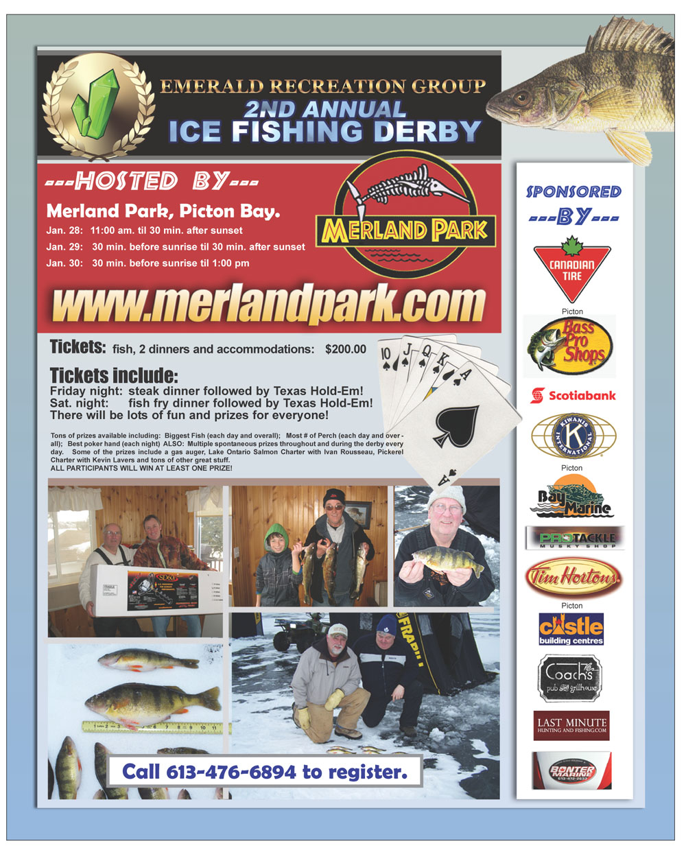 Annual Ice Fishing Derby on the Bay of Quinte