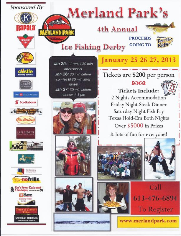 Merland Park's 4th Annual Ice Fishing Derby Dates Have Been Set