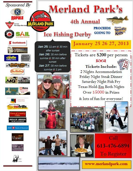 Merland Park's 4th Annual Ice Fishing Derby This Weekend