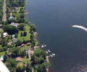 Aerial of Merland Park shoreline