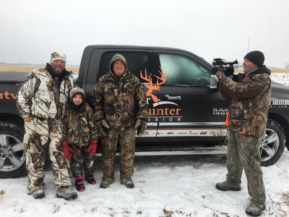 Mike Miller and Angler & Hunter Television at Merland Park Filming