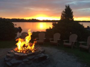 Bonfire Pit at Night