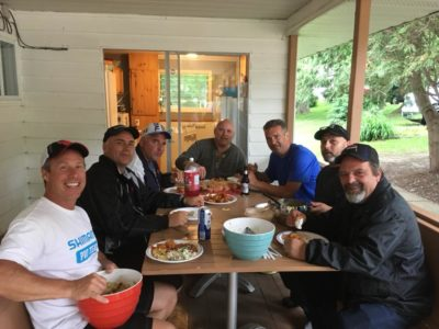 Pro Bass Angler, Derek Strub, was at Merland Park hosting a group of BASF/3M customers and they enjoyed a nice fish fry during their stay.